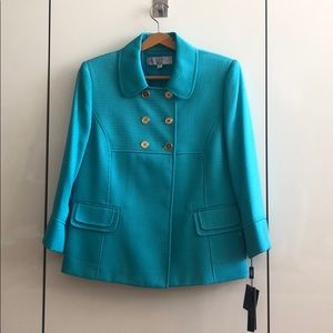 NWT Blue Double Breasted Blazer